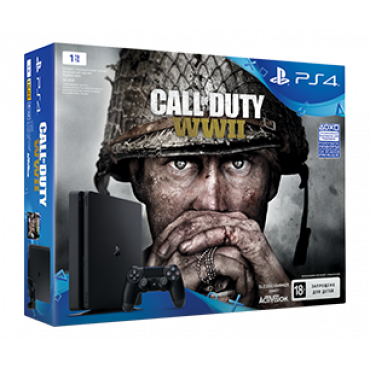 PS719942269 PlayStation 4 1TB COD WWII