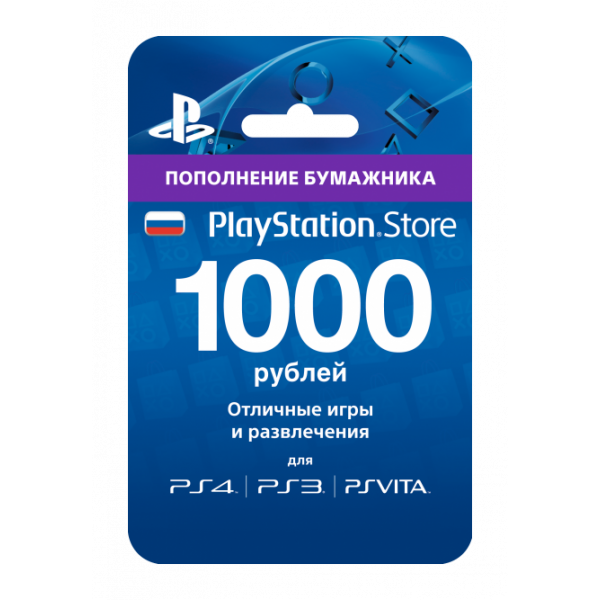 PS3 Playstation Network Card 1000 RR