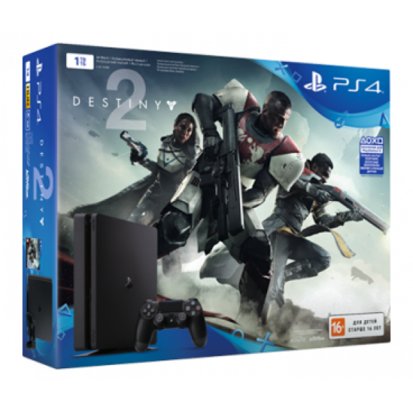 PS719896265 PlayStation 4 (1 ТБ) в комплекте с игрой Destiny 2