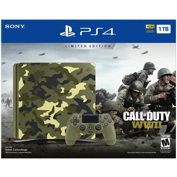 PS719943761 PlayStation 4 1TB + COD WWII CAMO/RUS