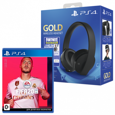 PS719960201 Fortnite VCH (2019)/Gold Headset/RUS, шт + FIFA 20 P