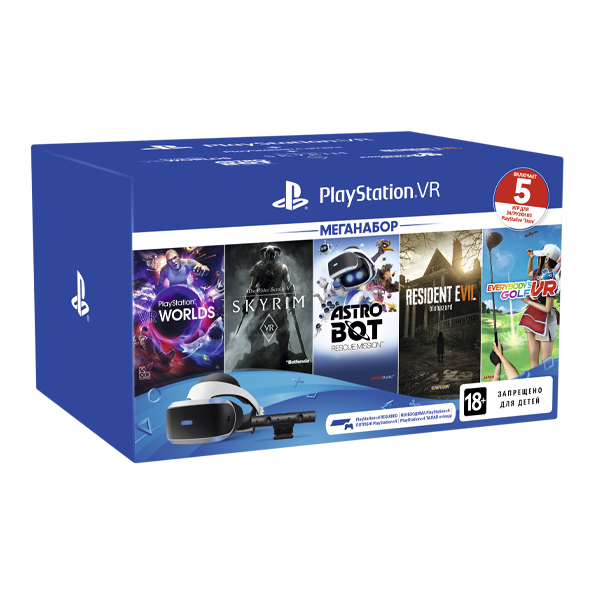 PS719998600 PS VR Mega Pack 2 Sony PlayStation VR + camera V2 +
